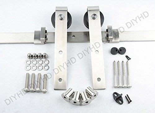 Diyhd country style stainless steel sliding barn wood door hardware diyhd country style stainless steel sliding barn wood door hardware eventshaper