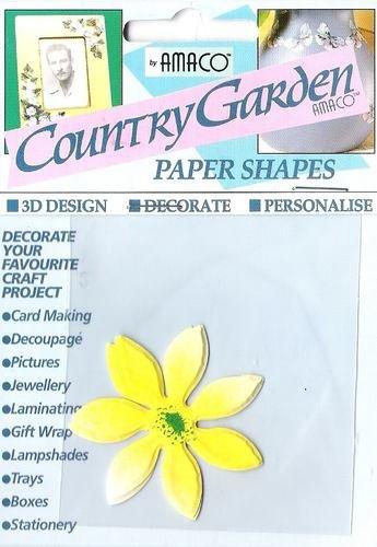 Margherita gialla in carta pre-tagliata per decorazioni 3D