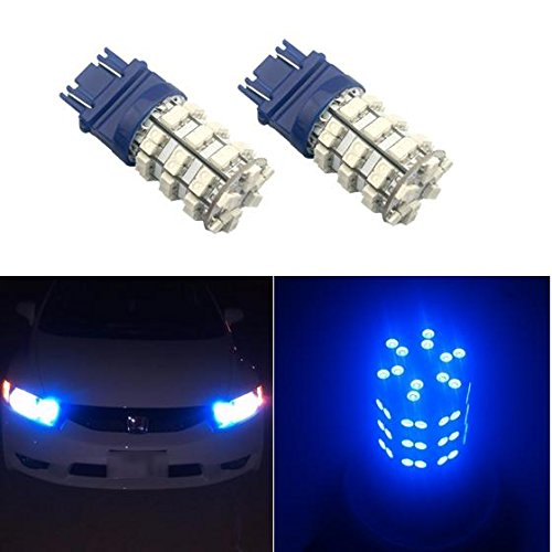 Partsam Blue 60-SMD LED Bulbs DRL Daytime Running Light 3156 3157 420LM 52mm size LED lights (2005 Chevy Tahoe Running Lights compare prices)