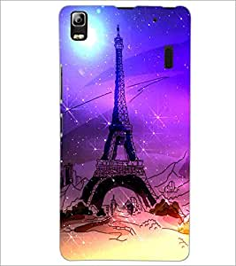 PrintDhaba Tower D-4893 Back Case Cover for LENOVO A7000 PLUS (Multi-Coloured)