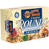 Valley Lahvosh Rounds Crackerbread, Original, 3-Inch Rounds, 4.5-Ounce Boxes (Pack of 12)