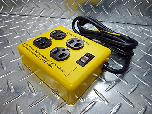 【REDDY KILOWATT】レディキロワット 延長コード4 OUTLET STEEL CASE/ブラック【DE-C151】/4アウトレットスティールケース 延長コード・OAタップ・電化製品・家電・コンセント