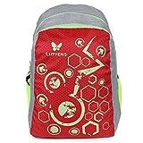 #6: Lutyens Polyester Red Grey School Bag(21Litre)(Lutyens_268)