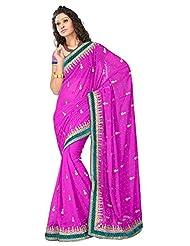 Sehgall Saree Indian Bollywood Designer Ethnic Professional Designer Material Art Georgette Purple