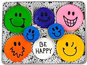 Be Happy Decorated Sugar Cookie Gift Tin