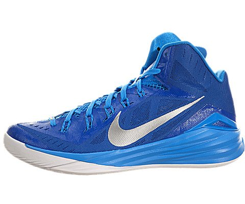 Nike Men's Hyperdunk 2014 TB Game Royal/Metallic Silver/Bl Hr/Wht Basketball Shoe 12 Men US