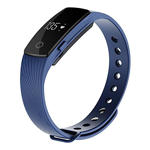 Witmood Smart Bracelet Heart Rate Monitor Smartband Pedometer Sport Fitness Tracker Wristband Watch For iPhone Samsung IOS Android Smart Phones (Blue)