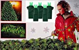 4' x 6' Green LED Wide Angle Net Style Christmas Lights - Green Wire