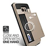 Galaxy S6 Edge Case, Verus [Damda Slide][Shine Gold] - [Card Slot][Drop Protection][Heavy Duty][Wallet] - For Samsung Galaxy S6 Edge SM-G925 Devices