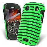 Celicious Green Hybrid Vent Gel Combo Case for BlackBerry Bold 9900
