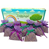 """Zziggysgal 12 Sachets Filled with French Lavender & Decorated with Ribbon Rosettes, Size 3x4"""""""