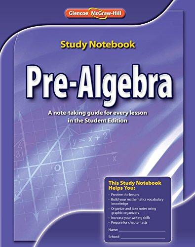Pre-Algebra, Study Notebook (MERRILL PRE-ALGEBRA)