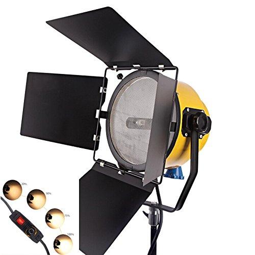 HWAMART® Spotlight 2000W Tête Jaune lumière blonde continue film de tungstène dimmable lumière du film studio de photographie de lumière (One Light)
