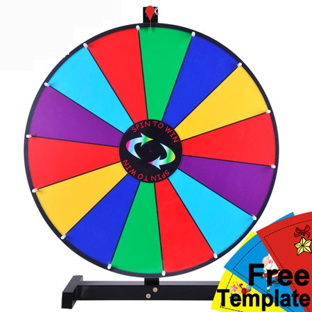 Prize wheel template 24 tabletop color dry erase spinning prize wheel 14 slot maxwellsz