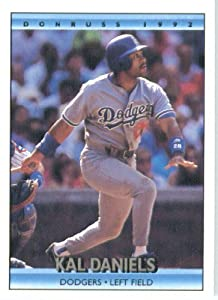 1992 Donruss # 343 Kal Daniels Los Angeles Dodgers Baseball Card