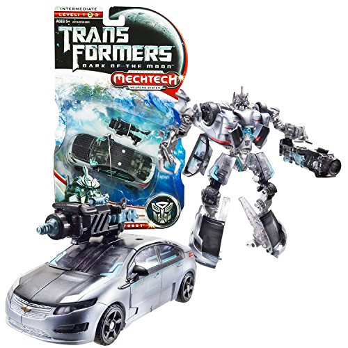 """Hasbro Year 2010 Transformers Movie Series 3 """"Dark of the Moon"""" Deluxe Class 6 Inch Tall Robot Action Figure - Autobot JOLT with Blaster that Converts to Hand Cannon (Vehicle Mode: Chevy VOLT) by Hasbro"""