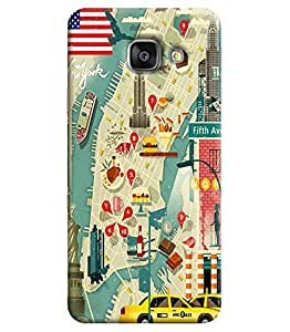 Blue Throat Printed Designer Back Cover For Samsung Galaxy A3
