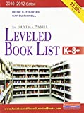 img - for The Fountas & Pinnell Leveled Book List, K-8+: 2010-2012 Edition, Print Version by Irene Fountas (2009-06-03) book / textbook / text book