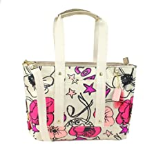 Hot Sale Coach Daisy Flower Print Sateen Kyra Convertible Tote Handbag 17148 Multicolor