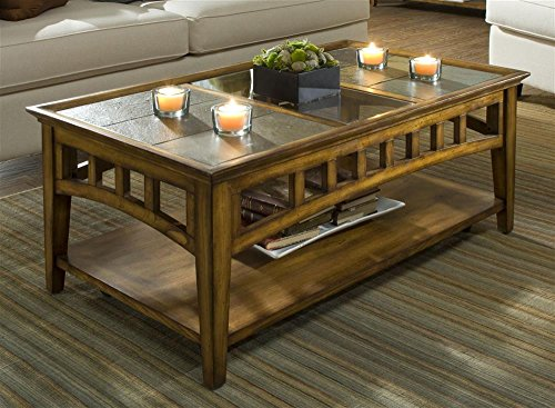 Riverside Furniture Riverside Andorra Rectangular Coffee Table In Eden Burnished Cherry