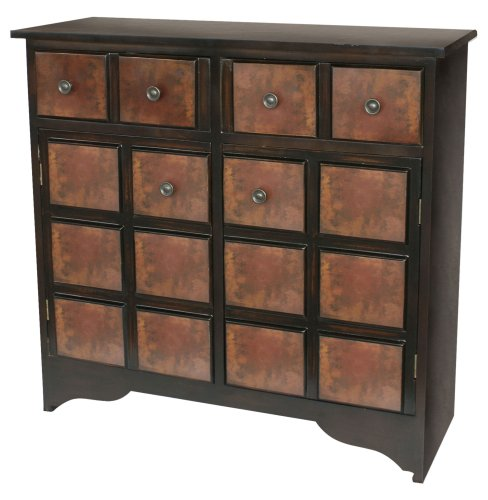 Sterling 6043634 Trevi Traditional Plantation Grown Hardwood Chest, 30-Inch, Rubbed Red front-791161