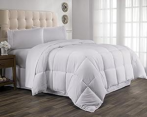 Martha Clyne Year Round Down Alternative Comforter Duvet , Full/Queen Size, White