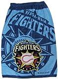 ベースボール柄 80cm丈 スナップ付ラップタオル 約80×120cm 綿100% 北海道日本ハムファイターズ