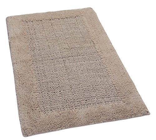 Naples 100 Cotton Bath Rug With Spray Latex Backing 20x30 Taupe Castle Hill Ebay