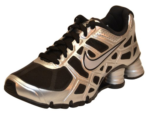 best sneakers 8356a 47620 Nike Boy s Shox Turbo 12 GS Training Running Shoes Black Silver 4 image