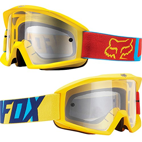 Fox Main Motocross MX MTB Goggles - Vandal Blue Yellow / Clear