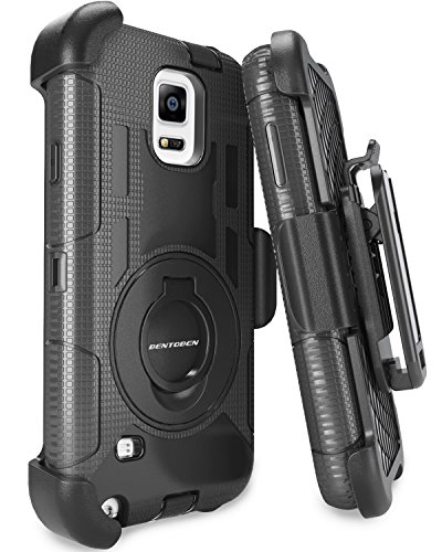 Note 4 Case, Galaxy Note 4 Case, BENTOBEN Shockproof Heavy Duty Protection Hybrid Rugged Samsung Galaxy Note 4 Case Rubber Built-in Rotating Kickstand Belt Swivel Clip Holster Note 4 Case, Black (Note 4 Protective Phone Case compare prices)