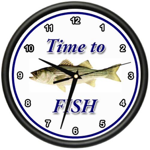Striped Bass Wall Clock