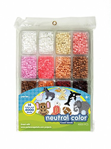 Perler Fused Bead Tray 4000/Pkg-Neutral Color - 1