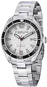 Stuhrling Original Men's 515.01 Aquadiver Regatta Endeavor Swiss Quartz Date Stainless Steel Bracelet Watch