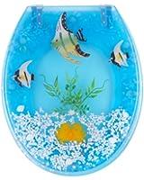 Mebasa MYBWCSL08 Abattant WC de myBath, motif poissons