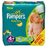 Pampers Windeln Baby Dry Gr.4+ Maxi P...