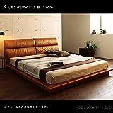 【商品名】ODL キングサイズ ロータイプ ベッドフレーム213cm キャメルブラウン  ヴィンテージスタイル W ダブルベッド ローベッド 【サイズ】幅213×長さ222×高さ78cm MK