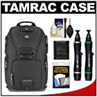 Tamrac 5788 Evolution 8 Photo Digital SLR Camera Sling Backpack (Black) with Lenspens + Accessory Kit Combo for Canon EOS 70D, 6D, 5D Mark III, Rebel T3, T5i, SL1, Nikon D3200, D5200, D5300, D7100, D600, D800, Sony Alpha A65, A77, A99