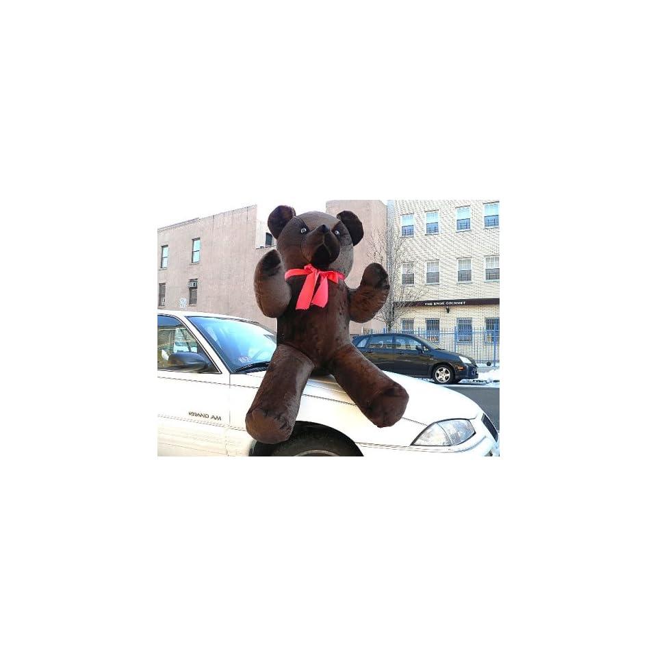 GIANT 68 JUMBO BIG PLUSH DARK BROWN COLOR CLASSIC STUFFED ANIMAL TEDDY BEAR GIANT STUFFED ANIMAL GIFT   AMERICAN MADE IN THE USA AMERICA