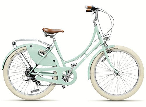 Best Prices! Peace Bicycles Dreamer Step-thru 7d Fully-equipped Vintage Dutch Style Designer City Bike with 7-speeds