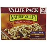 Nature Valley Sweet And Salty Nut Granola Bars Variety Peanut & Almond [Pack Of 2]