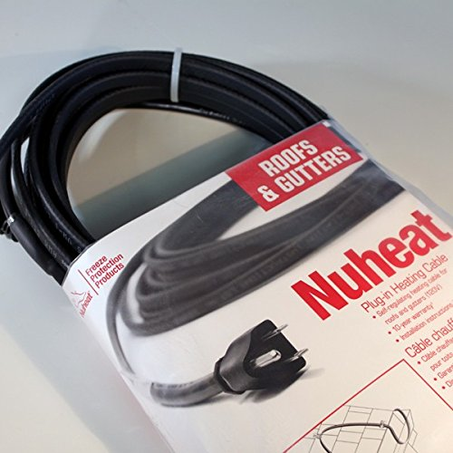 Heat Cable For Downspouts : Watt heavy duty roof gutter and pipe freeze