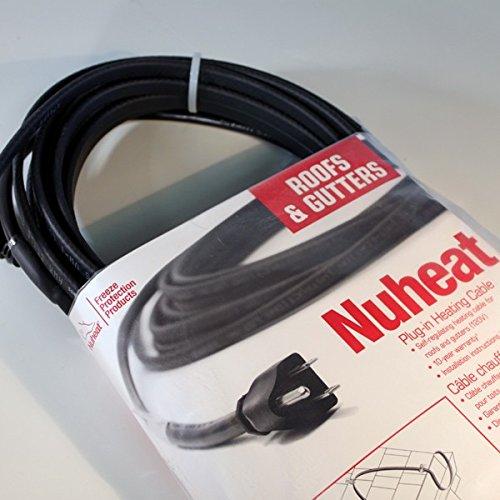 Nuheat Cable Gutter : Watt heavy duty roof gutter and pipe freeze