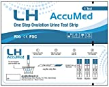 AccuMed® Ovulation (LH) Test Strips Kit, Clear and Accurate Results, FDA Approved and Over 99% Accurate, 25 count
