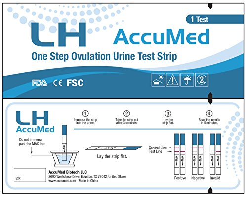AccuMed® Ovulation (LH) Test Strips Kit, Clear and Accurate Results, FDA Approved and Over 99% Accurate, 50 count