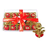 Chocholik Luxury Chocolates - 15pc Attractive Treat Of Truffles With Ganesha Idol - Diwali Gifts