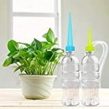 Automatic Garden Cone Watering Spike Water Control Drip Cone Spike Flower Plant Waterers Bottle Irrigation System with Nails Care Your Flowers,8 Pack