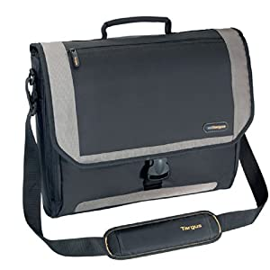 Targus CityGear Miami Messenger Case for 17-Inch Notebooks, Black with Grey (TCG200)
