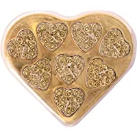 ShadowFax Heart Shape Rose Tealight Candle Set Of 8pc