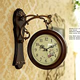 Wall Clock Vintage Nostalgic Wall Decoration French style Wall Clock Digital Home Decor